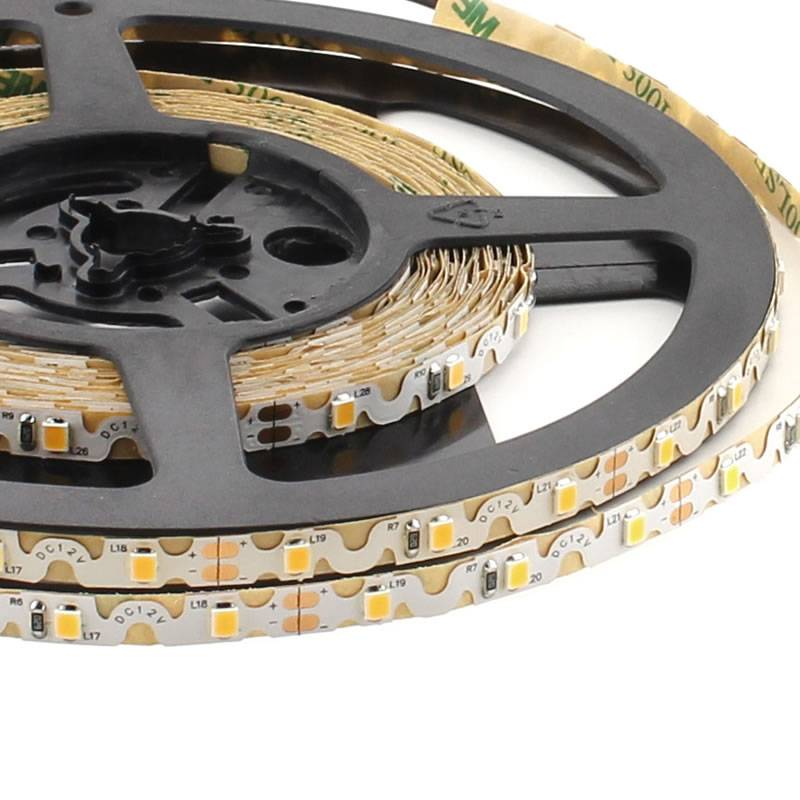 Tira contorno LED SHARP SMD2835, DC12V, (60Led/m) - IP20, Blanco cálido